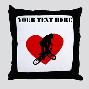 BMX Heart (Custom) Throw Pillow